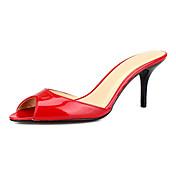 Unisex Sandály S páskem PU Léto Ležérní Šaty Vysoký Černá Červená 7.5 - 9.5 cm