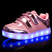 Chica Zapatillas de deporte Zapatos con luz Sintético Otoño Invierno Boda Casual LED Tacón Bajo Dorado Plata Rosa Menos de 2'5 cms