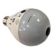 1.3mp hd 960p luz de bulbo inalámbrica ip cámara wi-fi fisheye 360 grado cctv cámara de seguridad panorámica