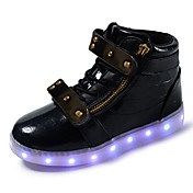 Chico Zapatillas de deporte Confort Zapatos con luz PU microfibra sintético Otoño Invierno Casual Con Cordón Cinta Adhesiva Tacón Plano