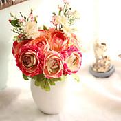 1 Rama Plástico Plantas Loto Flor de Mesa Flores Artificiales