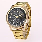 Hombre Reloj de Vestir Reloj de Moda Reloj de Pulsera Chino Cuarzo La imitación de diamante Aleación Banda Casual Elegantes Dorado