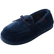Hombre Zapatos Terciopelo Invierno Forro de piel Forro de pelusa Mocasín Zapatillas y flip-flops Pompón Para Casual Gris Azul