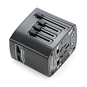 adaptador de viaje universal 4.8a 2 puertos de carga usb en todo el mundo en un cargador universal de pared convertidor de energía