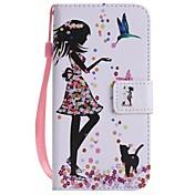 Para iPhone X iPhone 8 iPhone 8 Plus Carcasa Funda Soporte de Coche Cartera con Soporte Flip Diseños Cuerpo Entero Funda Chica Sexy Dura