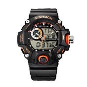 Hombre Reloj Deportivo Reloj de Pulsera Reloj Casual Reloj digital Suizo Digital LED Calendario Cronógrafo Resistente al Agua Dos Husos