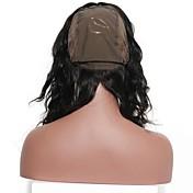 la peluca malasia del cordón de la onda 360 del cuerpo pelado lleno pelucas remy llenas del pelo humano del 100% con el pelo natural del