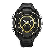 Hombre Reloj Deportivo Reloj de Pulsera Reloj Casual Reloj digital Suizo Digital LED Cronógrafo Dos Husos Horarios Cronómetro Silicona