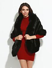 Dames Vintage Winter Bontjas,Uitgaan Rood Wit Zwart Imitatiebont