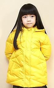 Chunyazi Fashion Solid Color Lang Hoodie Padded Coat (Gelb)