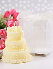 黄色いウエディングケーキキャンドル