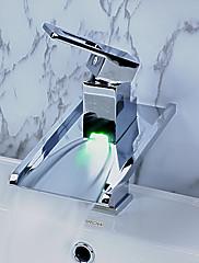 洗面ボール用水栓 シングルレバー 台付 LED付