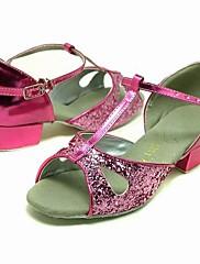 šumivé třpytky horní růžové taneční boty taneční sál latin boty pro děti více barev
