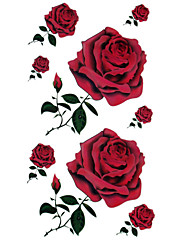 5 kom crvene ruže vodootporan privremenu tetovažu (20cm * 10cm)