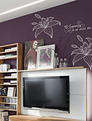 ljiljan cvijet zidne naljepnice (1985-P26)