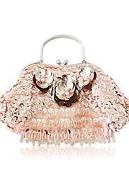 hedvábí s beading / květiny večerní kabelky / spojky / nahoru rukojeti tašek více barev k dispozici