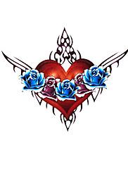 5 ks srdce vodotěsný dočasné tetování (6m * 6cm)