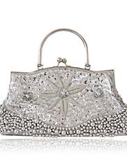 hedvábí s flitry / imitace kabelky perleťových večerních / spojky / nahoru rukojeti tašek více barev k dispozici