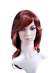 capless středně dlouhý kvalitní syntetický móda vlasy paruka