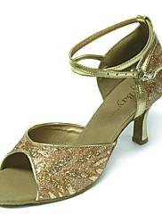 saténový horní ženy tanec boty sál latin boty více barev