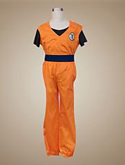 Inspirovaný Dragon Ball Son Goku Anime Cosplay kostýmy Cosplay šaty Patchwork Pomarańczowy Krátké rukávyVesta Trička Kalhoty Náramky