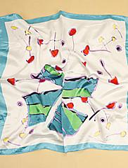 ledově modrá tištěná šátek (50cm * 50cm)