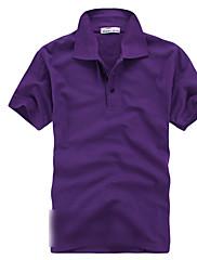 ラペル襟半袖Tシャツ
