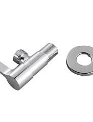mosaz rohový ventil s nerezovým štítkem kruhovým