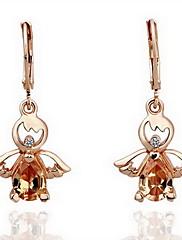 nádherné drahokamu slitiny náušnice anděl tvar