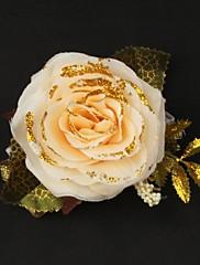 nádherný satén / bavlna free-form svatební zápěstí živůtek