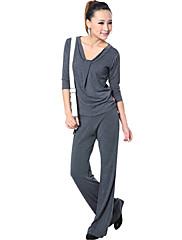 móda modální přátelské k pokožce jemné tenké poloviny rukáv jóga oblek