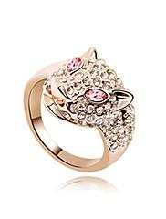 nádherný 18k zlacený crystal módní kroužek (více barev)