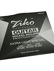 ジコ010から046の高品位ニッケル傷エレキギターの弦