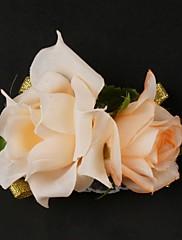 satén / bavlna free-form svatební zápěstí živůtek