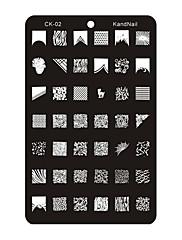 cool design metal nail art lisování obrázek šablona deska