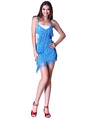 女性より多くの色のためのダンスウェアポリエステルスパンコールパフォーマンスラテンダンスドレス