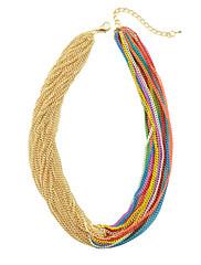ゴージャスなマルチカラーのいくつかのサークル鉄の女性のネックレス