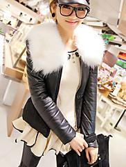 魅力的な長袖折り襟PUカジュアル/オフィスジャケット(その他の色)