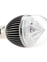 調光対応E27 5W 450-500LM 3000-3500KウォームホワイトライトグレーシェルLEDのボール電球(220V)