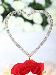 primeros de la torta 'de amarte con todo mi corazón' pastel topper rhinestone (más tamaños)