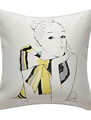 myšlení lady print dekorativní polštář