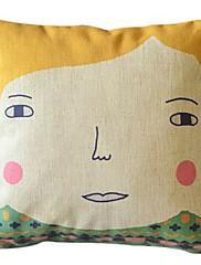 田舎娘の綿/リネン装飾枕カバー