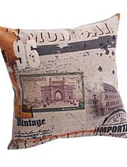 retro pečat pamuka / lana dekorativne jastuk poklopac