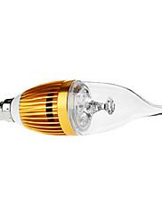 調光対応E14 4W 350-380LM 6000-6500Kナチュラルホワイトライトゴールデンシェル、LEDキャンドル電球(110/220V)