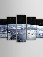 Ručně malované Abstraktní olejomalby,Moderní Pět panelů Plátno Hang-malované olejomalba For Home dekorace