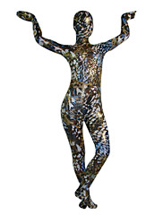 multicolor aether lesklý kovový celého těla Zentai