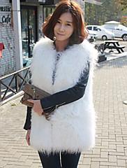 kožešina vesta s elegantním rukávů límce v umělé kožešiny Casual / strana vesta (více barev)