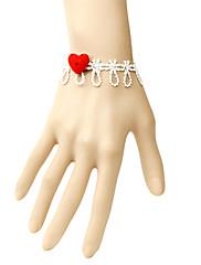 ručne crveno srce bijelom čipkom slatka Lolita narukvicu