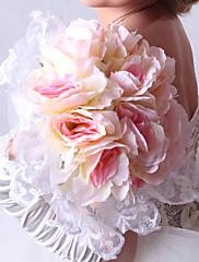 Elegante de la boda de forma redonda de ramo de novia
