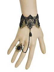 ručne crne čipke gothic lolita narukvicu
